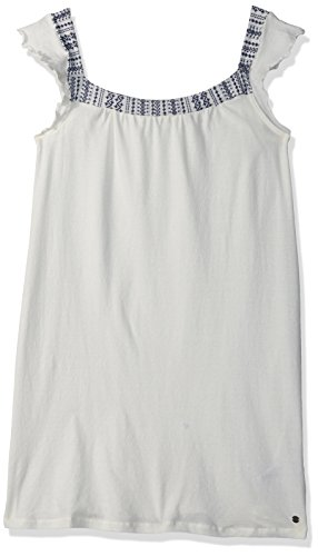 Roxy Big Girls' Precious Mind Dress, Marshmallow, 10/M