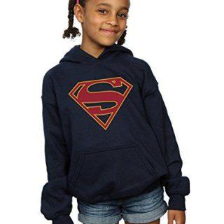 DC Comics Girls Supergirl Logo Hoodie