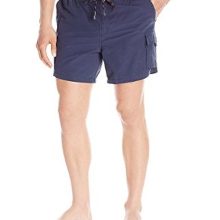 Hugo Boss BOSS Men's Bullshark Hybrid Swim Short with Removable Liner, Navy, Medium