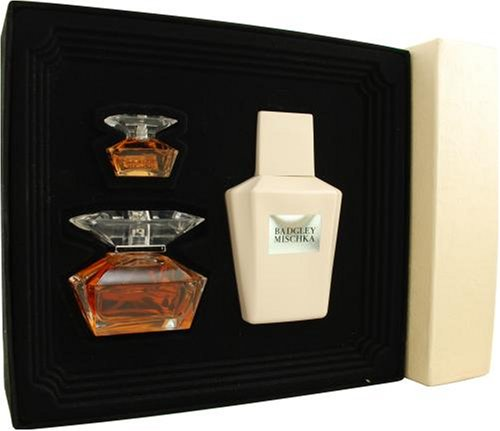 Badgley Mischka By Badgley Mischka For Women. Set-eau De Parfum Spray 1.7 OZ & Body Lotion 6.8 OZ & Eau De Parfum .24 OZ Mini
