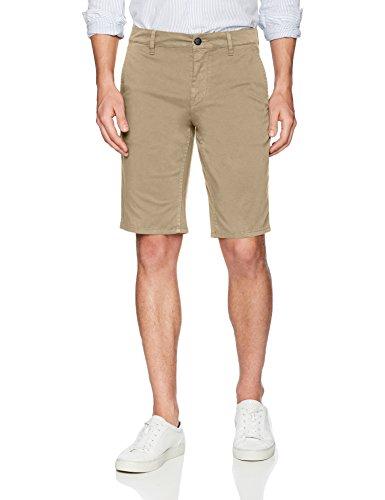 BOSS Orange Men's Slim Fit Cotton Stretch Chino Short, Khaki, 30