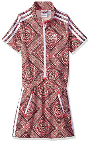 adidas Originals Big Girls' Originals Graphic Dress, Multi/White, M