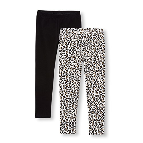 The Children's Place Big Girls' 2 Pack Legging, Tumbleweed, M (7/8)