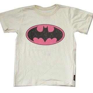 DC Comics Trunk LTD Batman Bat Logo Kids Youth Cream T Shirt (3)