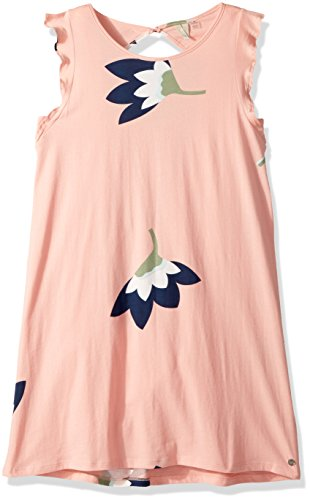 Roxy Big Girls' Lovely Place Sleeveless Dress, Peaches and Cream All in Mini, 10/M