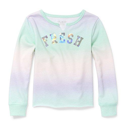The Children's Place Big Girls' Long Sleeve T-Shirt 2, Mermaids Tale, M (7/8)