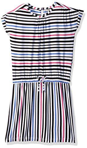 Calvin Klein Big Girls' Multiway Stripe Dress, White, Small (7)