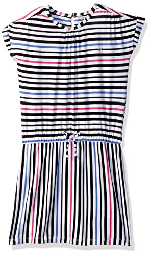 Calvin Klein Big Girls' Multiway Stripe Dress, White, Small (7)