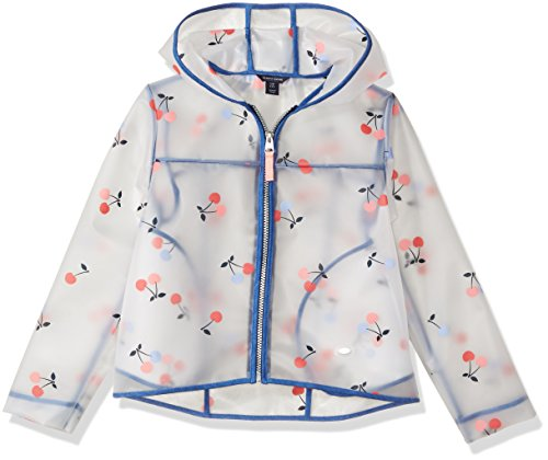 Tommy Hilfiger Little Girls' Cherry Printed Rain Jacket, White, 5