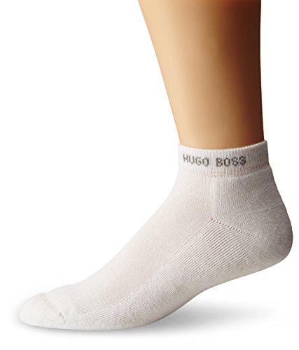 HUGO BOSS Men's Cushion Sole Low Cut Sock, White, 7-13/Shoe Size 6-12