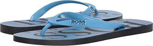 Hugo Boss BOSS Green by Men's Wave Thong Sandal Flip-Flop, Pastel Blue, 12/13 N US