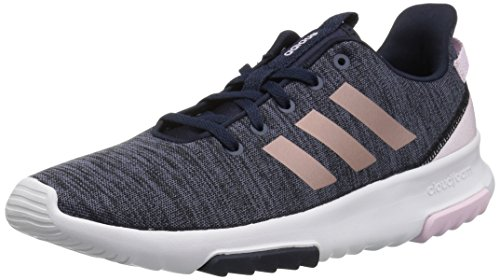 adidas Kids CF Racer TR Running Shoe, Legend Ink/Vapour Grey Metallic/Aero Pink, 3.5 M US Big Kid