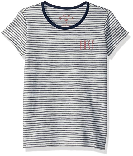 Roxy Big Girls' Another Dream Ringer T-Shirt, Dress Blues Simple Stripe, 14/XL