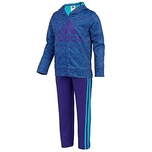 Girl's 2 Piece Set - Sweater and Sweatpants - Adidas - Blue and Purple (5)