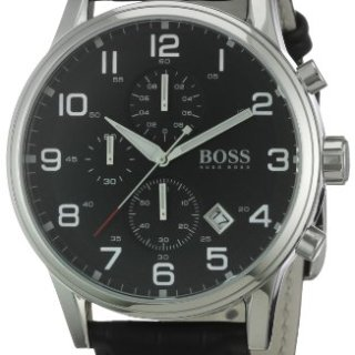 Hugo Boss Black Round Black Dial Steel Case Men's Classic