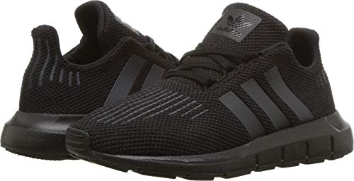 adidas Swift Run C Sneaker (Little Kid),Black,2.5