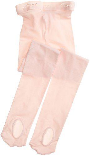 Capezio Little Girls' Ultra Soft Transition Tight, Ballet Pink, One Size (Kid 2-6)