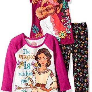 Disney Little Girls' 3 Piece Elena of Avalor Legging Set, Burgundy, 5