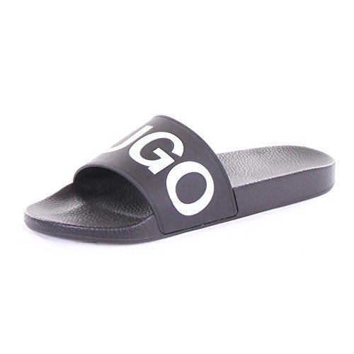 Hugo Boss Hugo Men's Time Out Slide Sandals, Black, 7 D(M) US