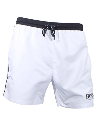 2476466ec6869 Hugo Boss BOSS Men's Starfish Swim Trunk, Open White, M Clout Wear ...