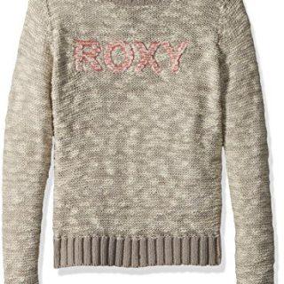 Roxy Big Girls' Blissfull Memory Sweater, Heritage Heather, 14/XL