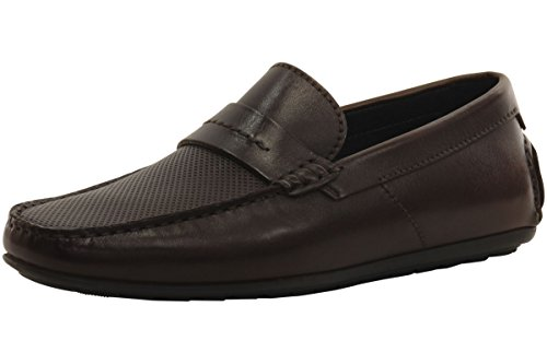Hugo Boss Men's Dandy Medium Brown Moccasins Shoes Sz: 8