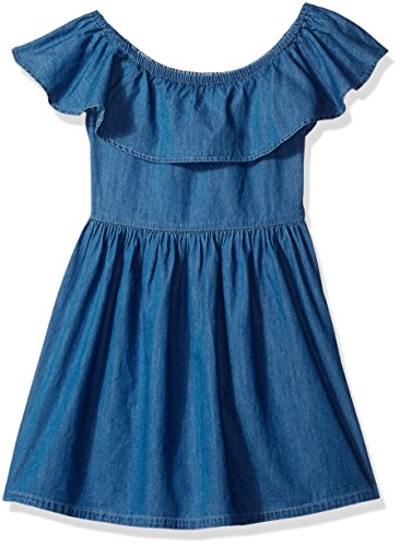 Tommy Hilfiger Big Girls' Denim Off The Shoulder Dress