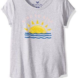 Roxy Big Girls' Short Sleeve Crew T-Shirt, Heritage Heather, 14/XL
