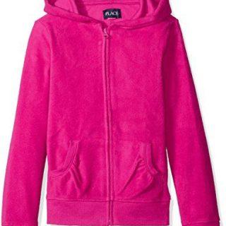 The Children's Place Little Girls' Uniform Microfleece Jacket, Aurora Pink, Small/5/6