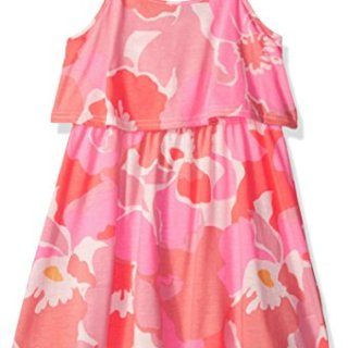 The Children's Place Big Girls' Off Shoulder Casual Dresses, Neon Punch, S (5/6)