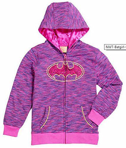 DC Comics Girls' Batgirl Costume Hoodie (3T, Hot Pink)