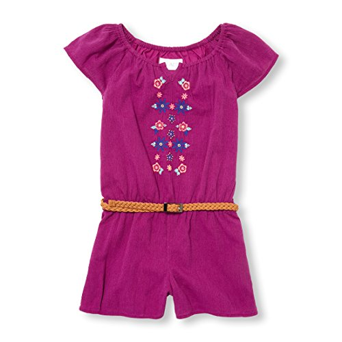 The Children's Place Big Girls' Short Sleeve Romper, Orchidzing, S (5/6)