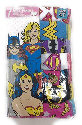 624546a5f378 DC Comics Justice League 7-Pack Girls Panties Underwear Wonderwoman  Supergirl Batgirl Size 4T