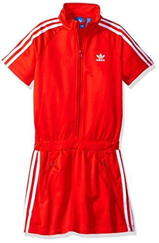 adidas Originals Dresses Big Girls' Firebird, Core Red/White, Small