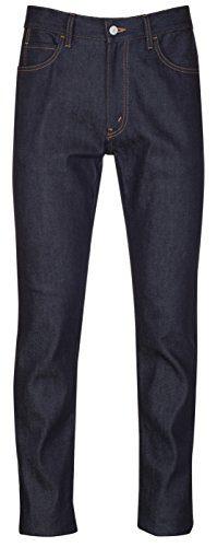 Gucci Men's Dark Blue Navy Cotton Denim Slim Jeans Pants, Blue, 38