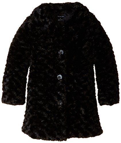 Calvin Klein Little Girls' Toddler Colored Faux Fur Jacket, Black, 3T