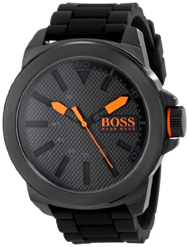BOSS Orange Men's New York Black Stainless Steel Watch
