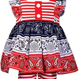 Bonnie Jean Girls American Patriotc 4th Of July Shorts Set (0m-6x) (4)