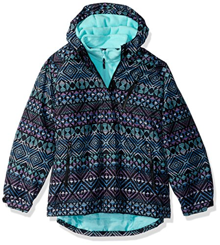 The Children's Place Big Girls' Printed 3-in-1 Jacket, Black, XL (14)