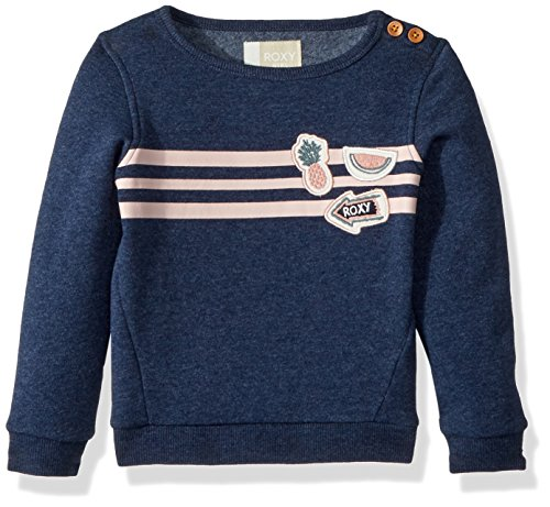 Roxy Toddler Girls' My Days Pullover Sweatshirt, Dress Blues, 2