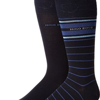 BOSS Hugo Boss Men's Stripe 2-Pack Crew Sock Blue 7 - 13