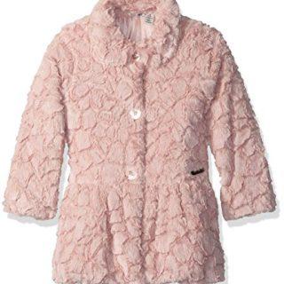 Calvin Klein Little Girls' Faux Fur Jacket, Light Pink, 6