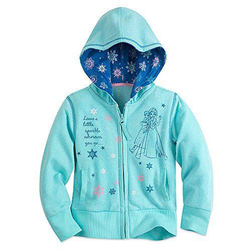 Disney Frozen Zip Hoodie for Girls Size 5/6 Blue