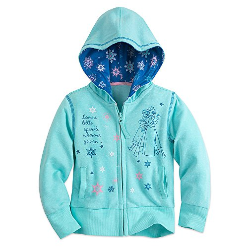 Disney Frozen Zip Hoodie for Girls Size 5/6 Blue