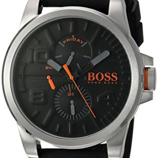 Hugo BOSS Men's 'Detroit Sport' Quartz Stainless Steel and Silicone Casual Watch, Color Black