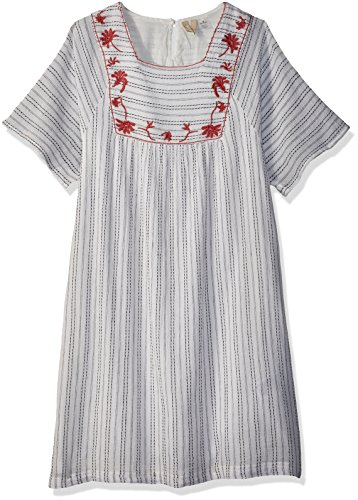 Roxy Big Girls' Give Huge Boho Dress, Marshmallow, 16/XXL