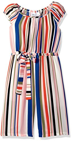 Bonnie Jean Big Girls' Jumpsuit, Multi Stripe, 7