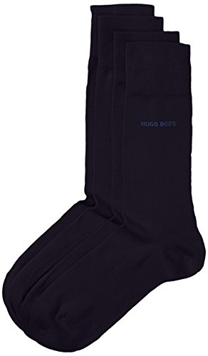 Hugo Boss Men's 2 Pair Plain 75% Cotton Socks 8.5-11 Men's Dark Blue