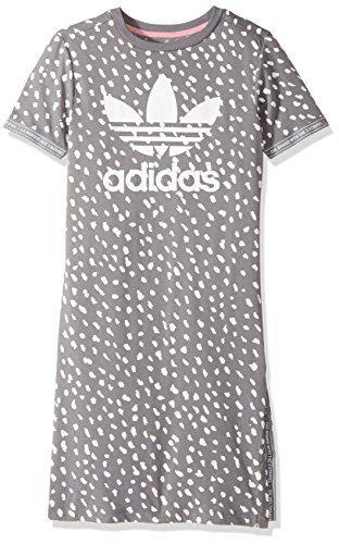 adidas Originals Dresses Big Girls' Kids NMD Tee, Grey Three/White, Medium