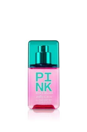 Victoria's Secret Pink with a Splash Pretty & Pure All-Over Body Mist 75ml/ 2.5 Fl Oz